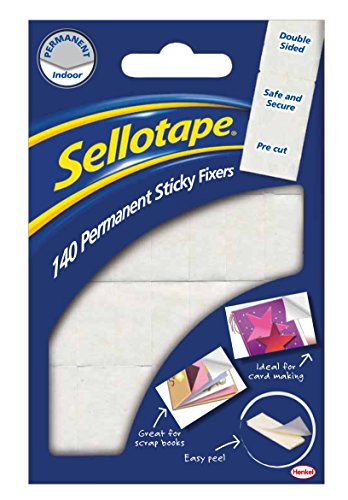 Sellotape schuimrubberen kleefpads, niet verwijderbaar, dubbelzijdig, 140 stuks