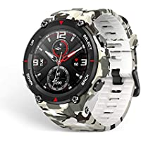 Amazfit T-Rex Men's Military Outdoor Sports Smart Watch with Heart Rate & Sleep Monitor (Camo Green)