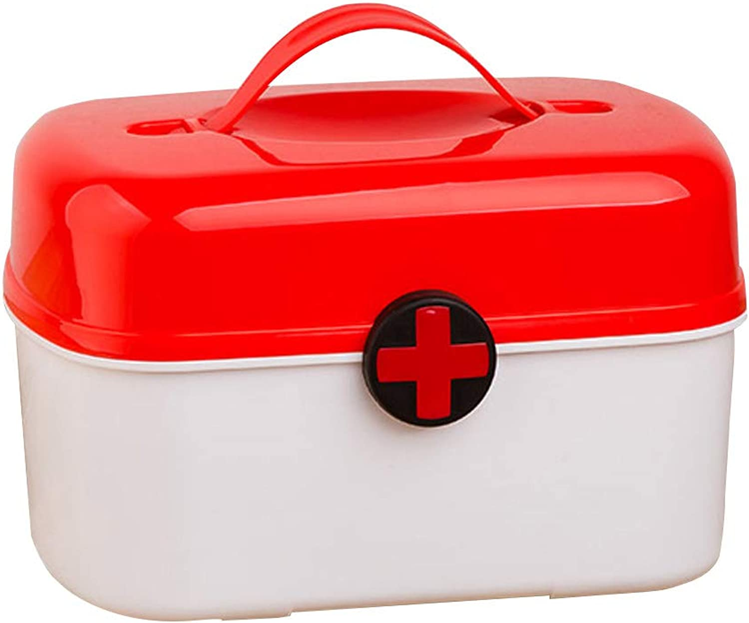 YD Medical box-PP plastic material, portable portable moisture-proof dust double-layer large capacity home cute wind, household multi-layer cute medicine box medical outpatient medical box medicine st