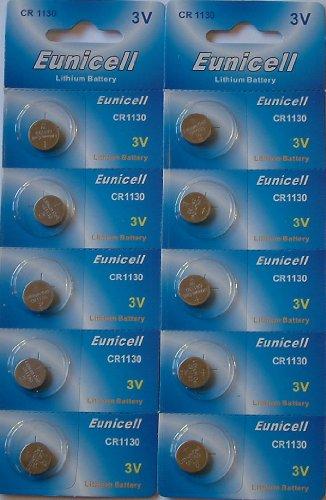 Eunicell CR1130 Lithium-Batterien (3 V) 10 Stück