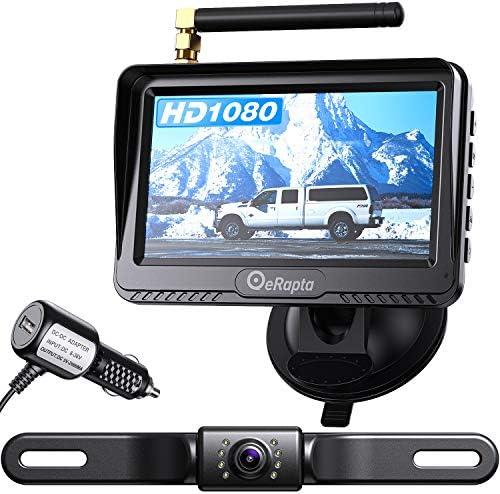 eRapta ERT03 1080P Wireless Backup Camera with Monitor for Car Pickup Truck Sedans Back Up Reversing product image