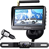 eRapta ERT03 1080P Wireless Backup Camera with Monitor for Car Pickup Truck Hitch Sedans Back Up Reversing Rear Front View Parking Camera Strong Signal and HD Image