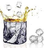 Irtyif Vasos de Whisky Cristal, Copas de vino coloridas, Vaso de whisky cristal de roca, vaso de whisky escocés, vaso de whisky irregular para beber...