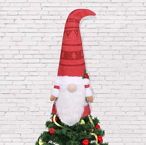 Toyvian christbaumspitze lustig Christmas Tree Topper 68cm Weihnachtsbaum Spitze Plüsch Figur Wichtel Schwedisch Weihnachtsbaum Topper