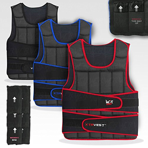 We R Sports XTR Weight Vest 5,10,15,20,30 Adjustable Weighted Vest Loss Running Gym Training
