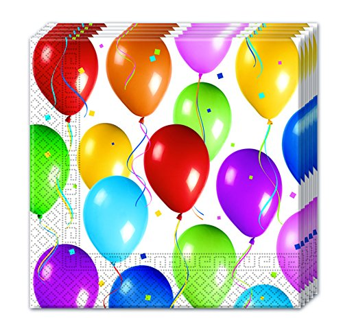 Procos 9949 - servetten papier balloons Fiesta, meerkleurig