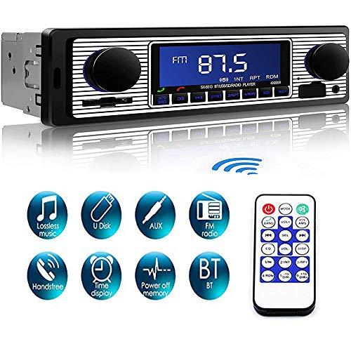 Catuo Autoradios Bluetooth Universelle R/écepteur Radio FM Lecteur MP3 WMA St/ér/éo HIFI HD Conversation Mains Libres Carte SD Fonction AUX Carte SD//USB//Smartphone Contr/ôle Basse Aigus /Égalisateur
