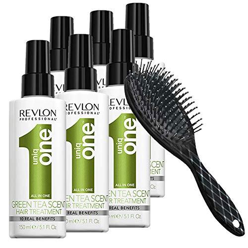 Lot de 6 Uniq One Revlon Thé Vert 150 ml + Brosse hairStore Infinity