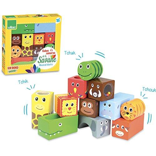Cubes sonores de la savane pour découvrir les animaux