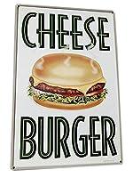 アメリカ看板 ハンバーガーショップシリーズのU.S.ヘヴィースチールサイン アメリカ雑貨 アメリカン雑貨 インテリア雑貨 ブリキ看板 標識看板 メタルサイン 壁掛け インテリア ティンサイン