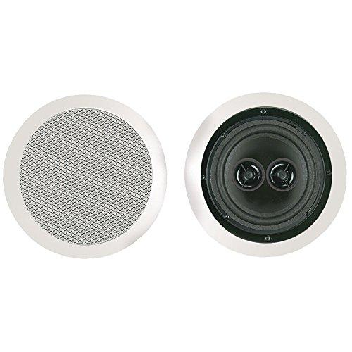 BIC America MSR6D DUAL VOICE COIL IN-CEILING SPEAKER TWIN-ANGLED TWEETERS 6.5IN WOOFER by BIC America
