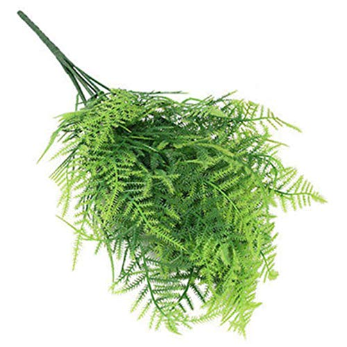 VJRQM Artificial Plants,Artificial Plants Outdoor Indoor,7 Stems Artificial Green Plant Grass Asparagus Fern Home Party Decoration Beauty Faux Plants Fake Greenery Dropshipping