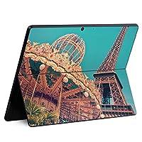 igsticker Surface Pro X 専用スキンシール サーフェス プロ エックス ノートブック ノートパソコン カバー ケース フィルム ステッカー アクセサリー 保護 012841 写真 建物 メリーゴーランド