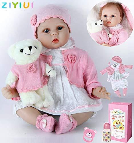 ZIYIUI Reborn Baby mädchen 22''/55cm Lebensecht Weiches Silikon Vinyl Reborn Baby Neugeborenes Reborn Toddlers Junge Mädchen Spielzeug Weihnachts Geschenk