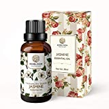 Olio essenziale di gelsomino, biologico, 100% puro e naturale, per pelle, capelli, aromaterapia, flacone grande in confezione regalo - Gelsomino, 30 ml