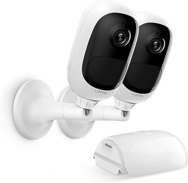 Reolink Argus Pro Cámara Vigilancia WiFi Exterior 1080P HD F con Batería Recargable Audio Bidireccional Visión Nocturna Impermeable Camara para Hogar Seguridad (2Pcs)