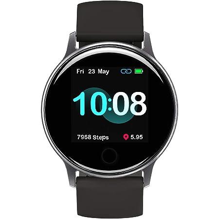 UMIDIGI スマートウォッチ Uwatch 2S 5ATM防水&水泳対応 活動量計 スポーツウォッチ 多機能腕時計 睡眠モニタリング バッテリー長持ち 長座注意 着信通知 日本語 アプリ メンズ レディース iPhone/Android対応(スペース グレー)