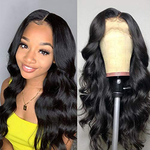 Price comparison product image Brazilian Body Wave 18 inch Lace Front Wigs 13×4 Human Hair Wigs 150% Density Lace Wigs Pre Plucked for Black Women Natural Hairline