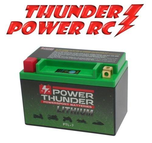 Batería de litio Power Thunder Lithium HJTX9-FP-I para Suzuki GSR 600 2006–2010, 12 V (compatible con Yuasa YTX9-BS – YTR9-BS). Código: PTL-7