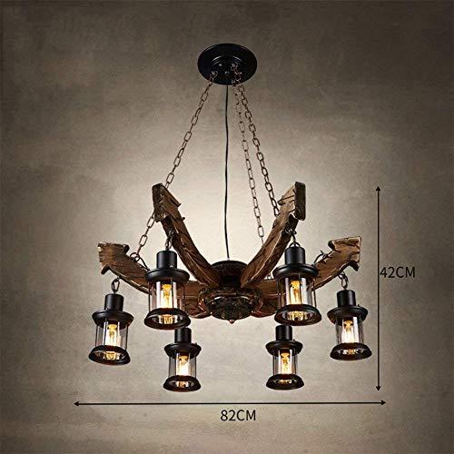 Plafond Lamp Retro Kroonluchter Amerikaanse Dorp Industriële Winden Hout Creatieve Boot Hout Kleding Winkel Koffie Shop Nostalgische E27 Luxe Creatieve Eenvoudige