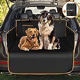 Docatgo Funda para Maletero de Coche para Perros - Protector de Asiento Antideslizante Impermeable para Mascotas - Viaje Lavable Duradero de la Cubierta de la Bota Universal para el camión/SUV(Negro)