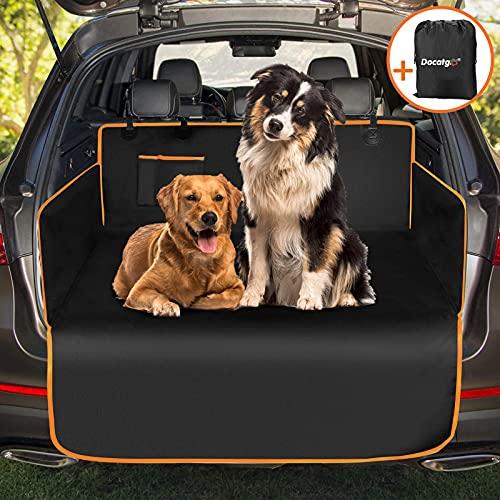 Docatgo Völliger Kofferraumschutz für Hund - Reißfeste&Wasserdichter Quilted Kofferraumdecke Hundedecke Auto mit Seitenschutz Schützt den Kofferraum und die Stoßstange vor Schmutz, Kratzern und Haaren