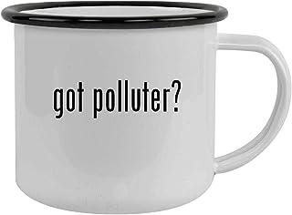 got polluter? - Sturdy 12oz Stainless Steel Camping Mug, Black