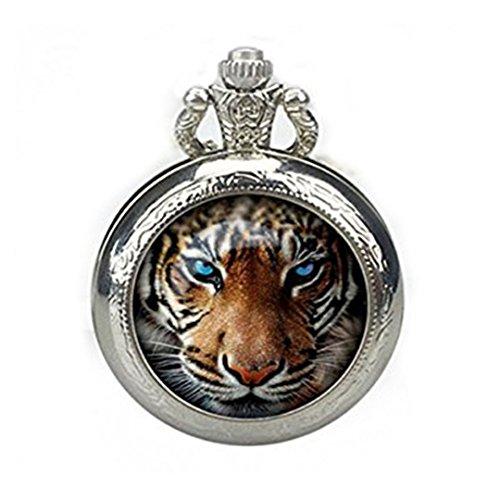 Tigre Reloj de bolsillo collar, tigre reloj colgante tigre reloj joyer