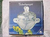 Schwanensee クリスタルボウル 白鳥の湖 西ドイツ製 昭和レトロ 食器 コレクション
