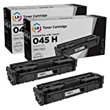 LD Compatible Toner Cartridge Replacement for Canon 045H 1246C001 High Yield (Black, 2-Pack)
