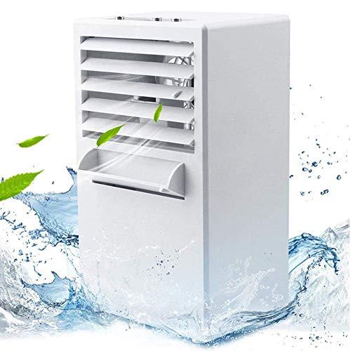 JZH-Light Climatiseur Portable Portable pour Climatisation Ventilateur De Table Silencieux Ventilateur De Table Portable - avec Réservoir d'eau De 420 ML/ 3 Niveaux De Vitesse
