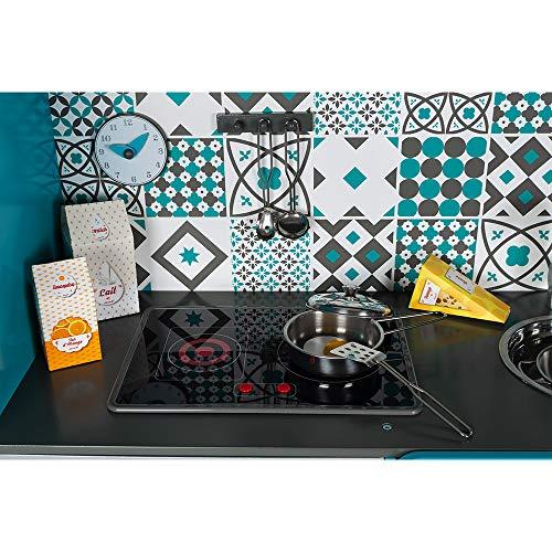 Janod Kinderküche aus Holz Lagoon Maxi mit Kühlschrank und Mikrowelle – Kinder Spielzeug Küche – Inkl. 15 Zubehörteilen – Ab 3 Jahren, J06555 - 5