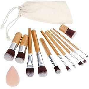 Anjou Brochas para Maquillaje de 24 Piezas, Juego de Brochas para Maquillaje de Ojos, Delineador, Sombra de Ojos, Cejas, Bases, Brochas Difusoras de Polvos Líquidos, Mango de Madera Premium: Amazon.es: Belleza