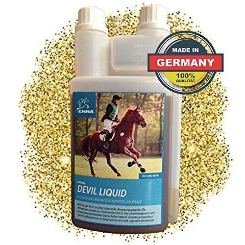 EMMA® Devil's Claw Horse liquid I Paardenvoer beweeglijke gewrichten I Devil's Claw root hoge dosering I Gezamenlijk actief voer ook voor senioren 1 L