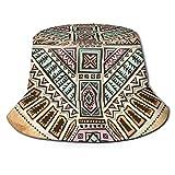Mkh Tribal Nativo Americano Halcón Cubo Sombrero Plegable Primavera Y Verano Viaje Pescador Sombrero Playa Sombrero, Halcón nativo tribal americano, talla única