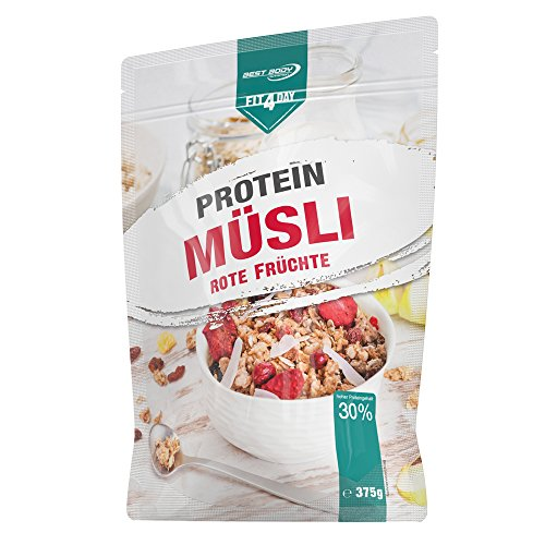 Best Body Nutrition Fit4Day Protein Müsli Rote Früchte, 375 g