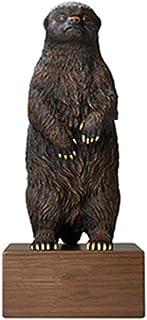 Brass Black Bear Statues Sculpture Decoration Geometric Hand-Painted Sculpture Garden Decoration, Crafts Gift Tv Cabinet O...