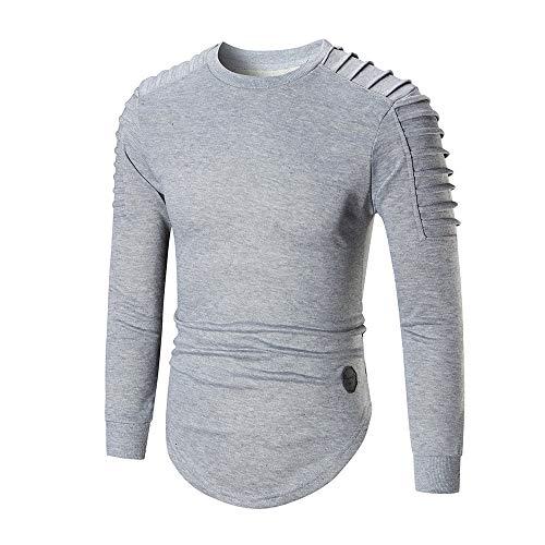 manadlian Chemises Homme Sweats Manches Longues Casual Shirts Couleur Unie Polos Mode T-Shirts Chaud Homme Chemises Homme Automne Pullover Sweat-Shirt
