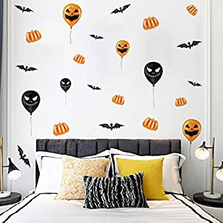Holly LifePro Party Supplies Happy-Halloween Removable Decal Wall Sticker for Bar Living Room Home Party Window Door Grass...
