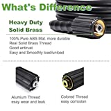 """YAMATIC Kink Resistant 3200 PSI 1/4"""" 50 FT High Pressure Washer Hose Replacement With M22-14mm Brass Thread (Premium Upgrade Version 2X)"""