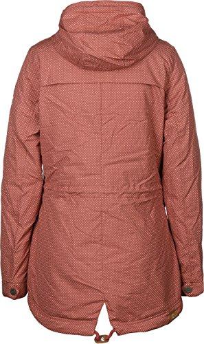 Ragwear Laika Minidots Women Jacke, dusty red, Gr. XL