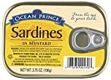 Ocean Prince Sardines in Mustard, 3.75 Ounce Cans (Pack of 12)