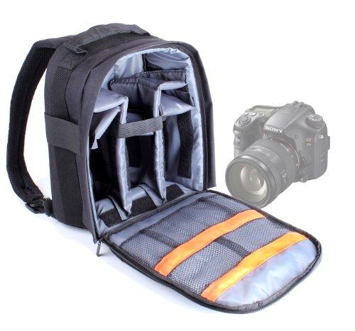 DURAGADGET Mochila Ajustable con Compartimentos para La Cámara Sony Alpha SLT-A65 /...