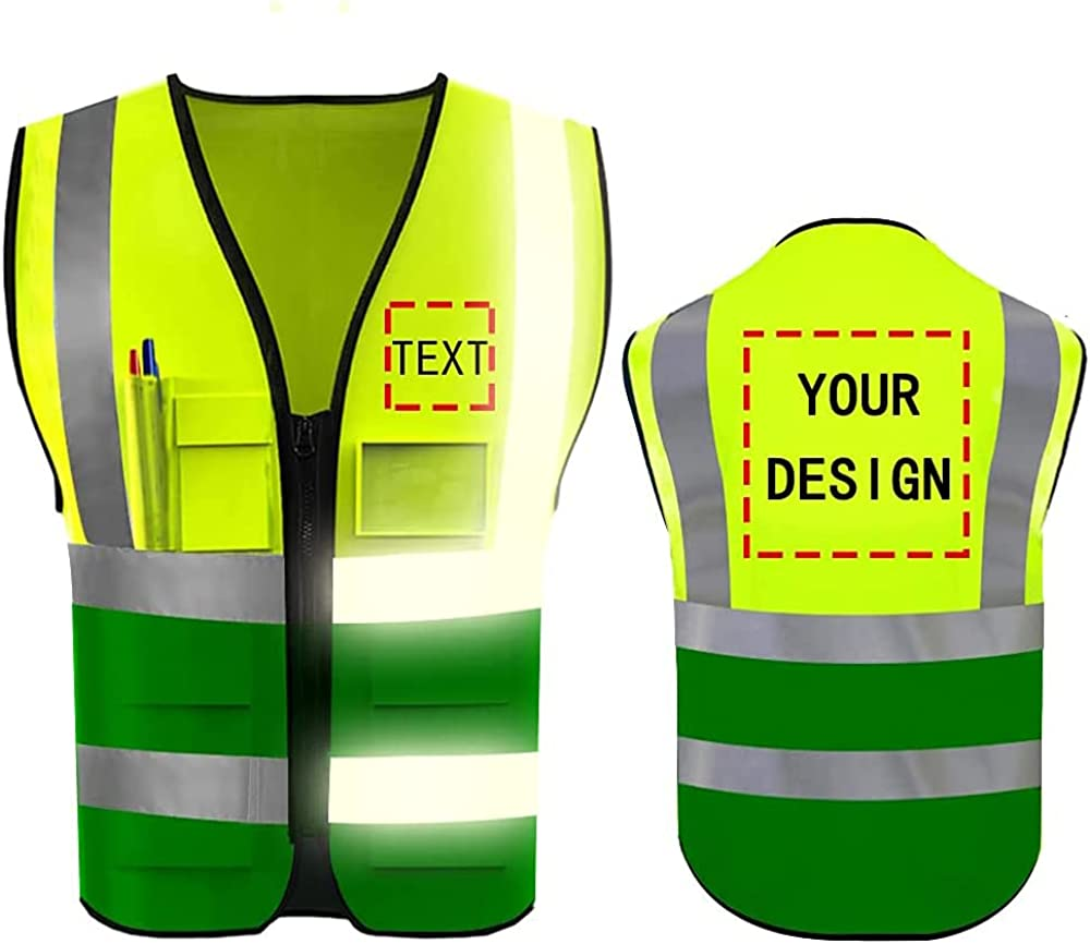High Reflective Discount mail order Cheap mail order shopping Visibility Safety Vest W Your Custom Logo