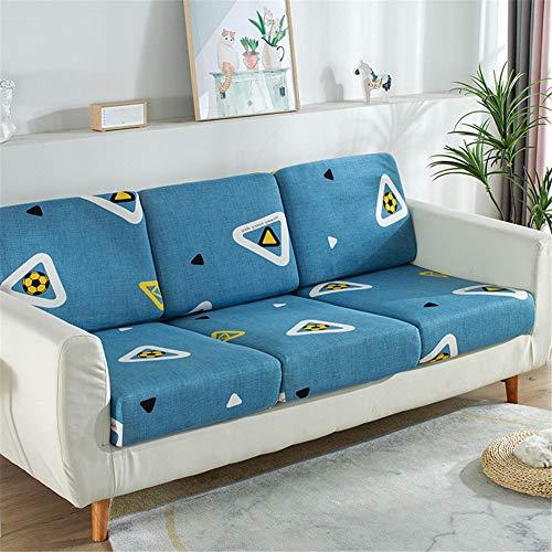 Fundas de cojín de asiento de sofá, fundas de cojín de reemplazo, fundas de cojín flexibles elásticas para cojines individuales (comunes de 4 plazas, fútbol)