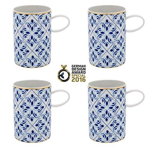 Vista Alegre - Taza de porcelana (4 unidades)