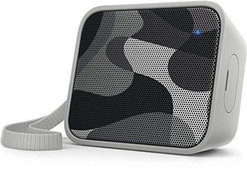 Philips BT110C/00 - Altavoz portátil inalámbrico (Bluetooth, a Prueba de Salpicaduras, Correa incluida, batería Recargable), Color Camuflaje