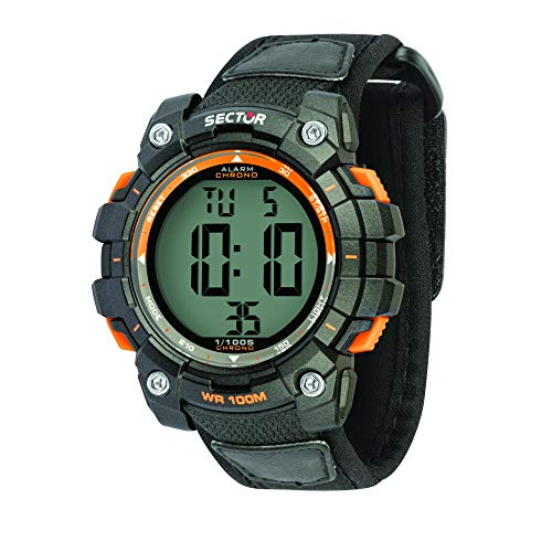 Sector No Limits Herren Digital Uhr mit Nylon Armband R3251520001
