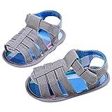 Zapatos de bebé, Bluestercool Verano Bebé Infantil Chicos Cuna Suave Niñito Recién Nacido Sandalias Niño Blancos Zapatos Bebe Niña Primeros Pasos (11 (0~6 Meses), Gris)