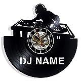 Vinyl Revolt DJ Personalized Custom Vinyl Record Wall Clock Gift Surprise Ideas Best Friends Birthdays Decor Art